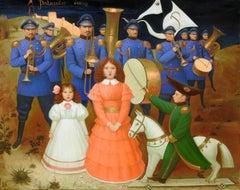 """""""Patriotic Song"""", Igor Samsonov, Oil on Canvas, Figurative, Surrealism"""
