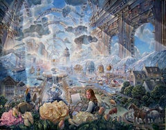"""""""The Artist in Search of a Subject"""", John Stephens, Acrylic Painting, Surrealism"""
