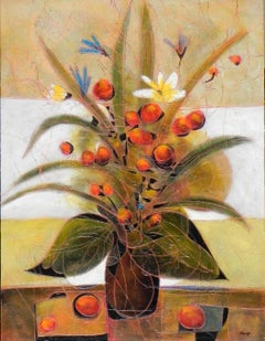 """Bouquet d'été"", Jean-Claude Gaugy, Oil on Board, Still Life, Contemporary"