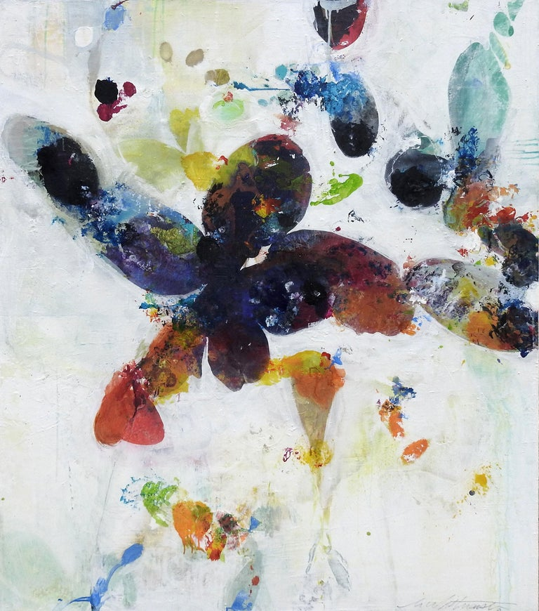 """Divine Garden Series #268"", Mark Whitmarsh, Contemporary White Flowers, 48x36 - Painting by Mark Whitmarsh"