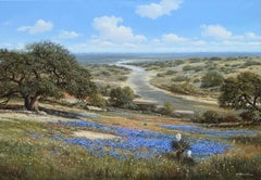 """Under the Blue Texas Skies"", George Kovach, Original Oil on Canvas, 36x48 in."