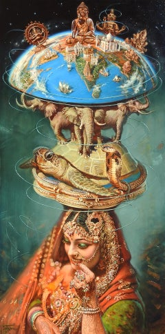 """India"" (The Birth of the Universe), Oleg Turchin, Surrealism, Figurative, 58x30"