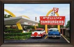 """McDonalds"", Jesus Navarro, Hyperrealist, Original Oil on Canvas, 24x39 in."
