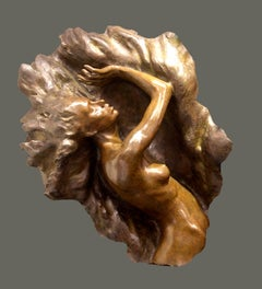 """Ex Nihilo Fragment 7"", Frederick Hart, Figurative Bronze Sculpture, 46x35x18 in"