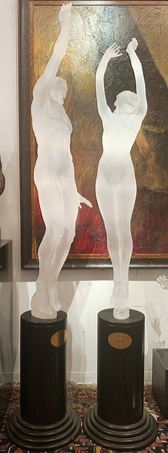 """Celebration"", Frederick Hart, Acrylic Figurative Sculpture Pair, Edition 8/8"