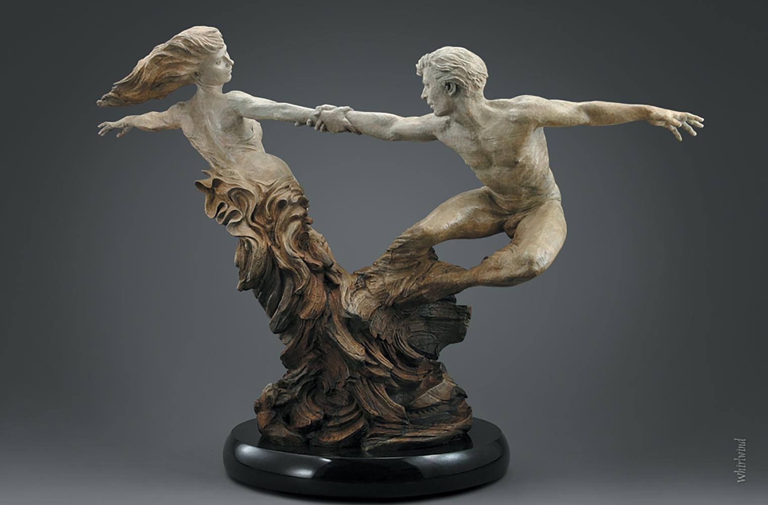 """Whirlwind"", Martin Eichinger, Figurative, Bronze, Romantic, 54x84x72 in."