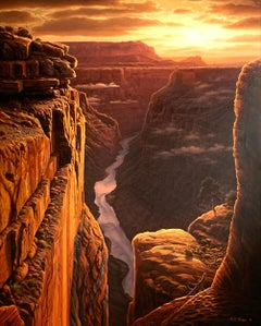 """""""Golden Memories"""", R.W. Hedge, Original Oil on Canvas, 60x48. in., Grand Canyon"""