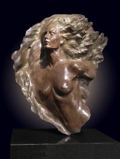 """Ex Nihilo Fragment 2"", Frederick Hart, Bronze Sculpture, Woman Figure"