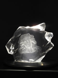 """Illuminata I"", Frederick Hart, Lucite Sculpture, Figurative Woman"