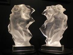"""""""Duet: A Spiritual Song of Love"""" Pair, Frederick Hart, Lucite Sculpture, Figure"""