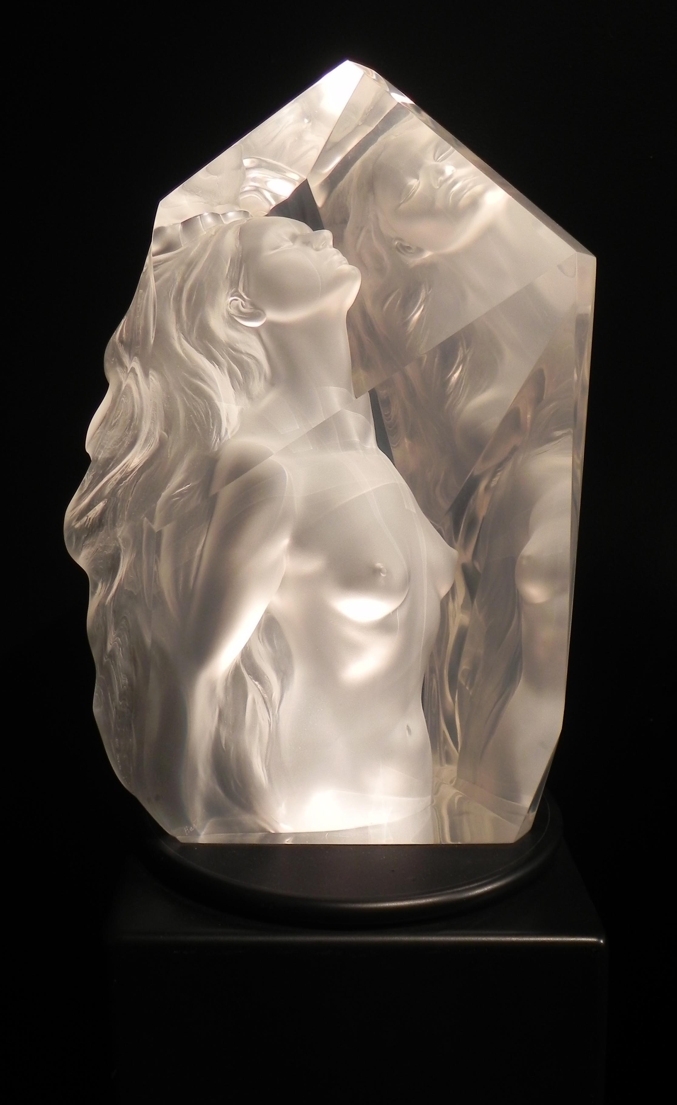 """Exaltation"", Frederick Hart, Lucite Sculpture, Figurative Woman"