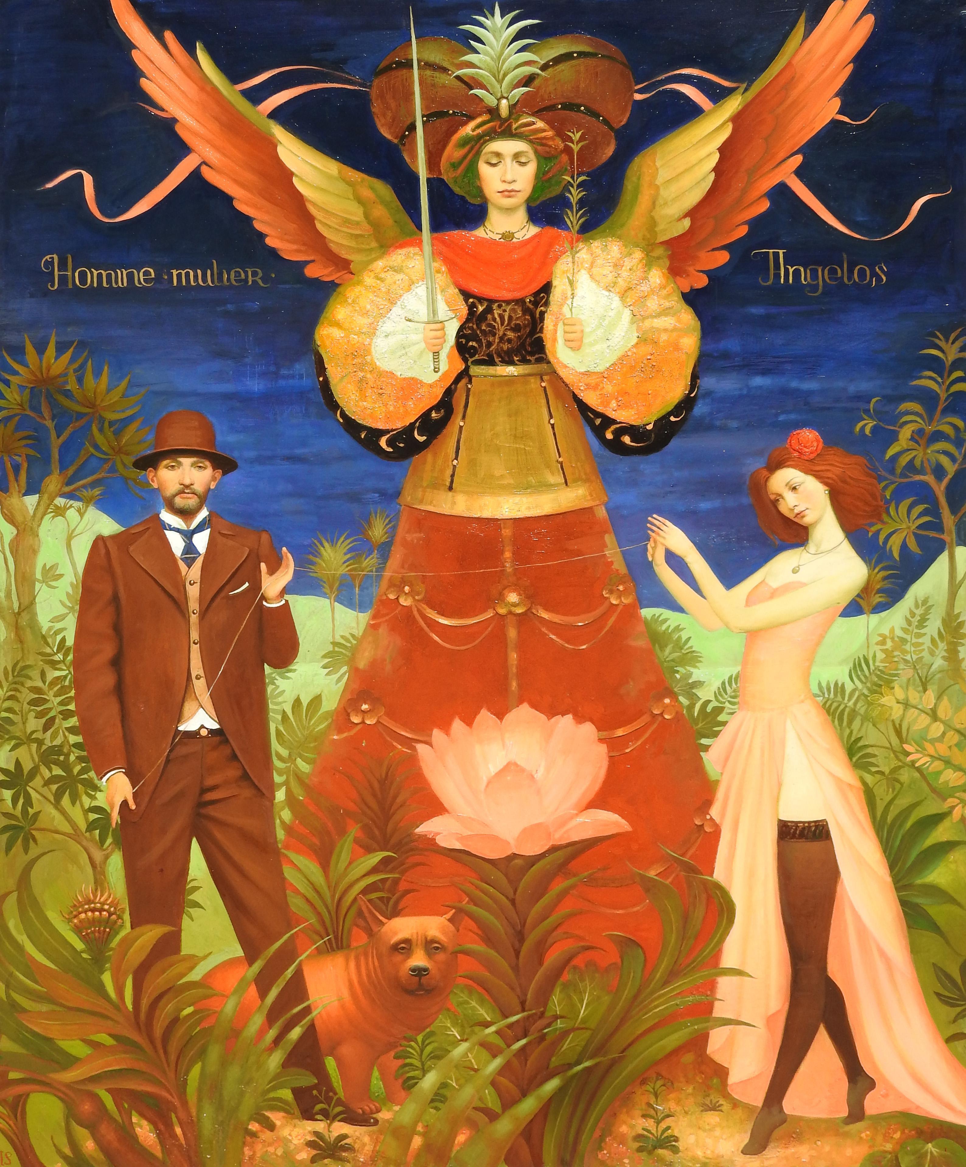 """""""Angelos"""", Igor Samsonov, Oil on Canvas, Surrealist Figurative Painting"""