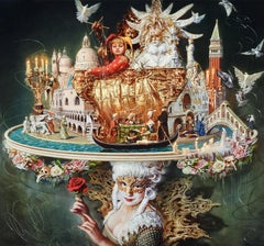 """Venice"", Oleg Turchin, Oil on Canvas, 59"" x 63"", Surrealism"