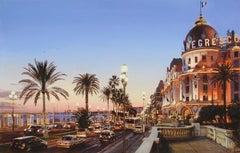 """Hotel Negresco, Nice"", Oleg Turchin, Oil on Canvas, 30"" x 47"", Realism"