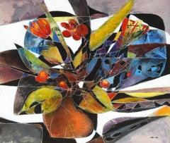 """Bouquet du Soir"", Jean-Claude Gaugy, Oil on Board, French, Contemporary"