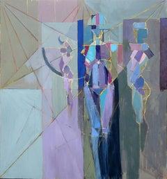 """Tre Grazie 51"", Michael Mentler, Oil on Canvas, Contemporary, Modern, Geometric"