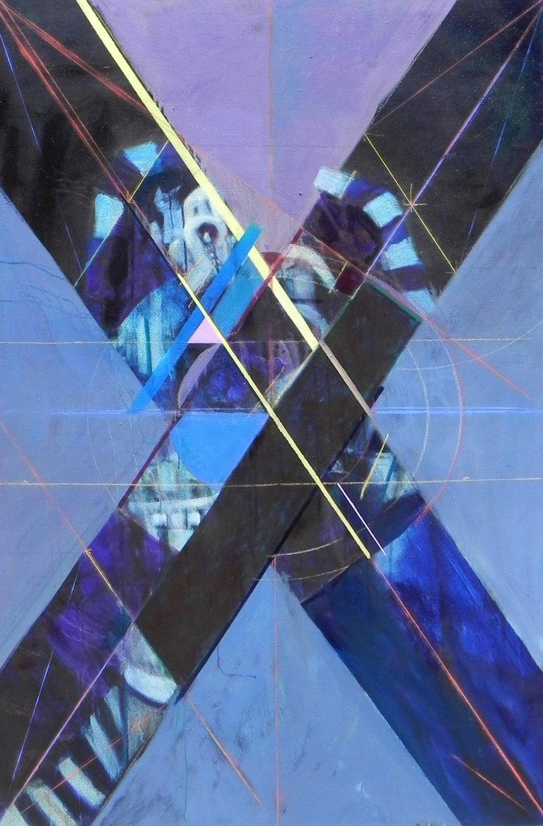 """Ritmi di Vita 19"", Michael Mentler, Oil on Canvas, Contemporary, Geometric Art - Painting by Michael Mentler"