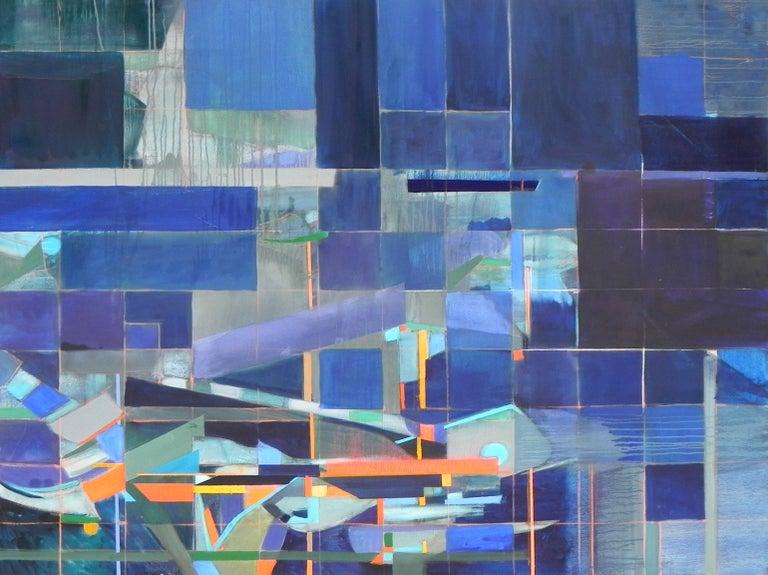"""Segni di Vita 9"", Michael Mentler, Oil on Canvas, Contemporary, Geometric Art - Painting by Michael Mentler"