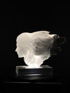 """Herself"", Frederick Hart, Acrylic Female Sculpture, 17x16x6 in., 176/350, white"