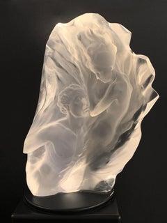 """""""Ex Nihilo"""", Frederick Hart, Acrylic Sculpture, 20x19x6 in., 53/350, white"""