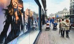 """Calle De Londres"", Jesus Navarro, Oil on Canvas, 24x35 in., Photo Realism, City"