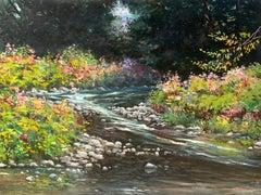 """""""Pine Creek in September"""", Bogomir Bogdanovic, Oil on Board, Landscape, 30x39"""