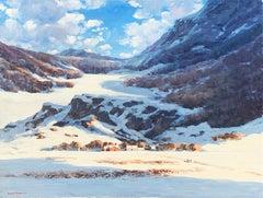 """""""Sunset in Allegheny"""", Bogomir Bogdanovic, Oil on Board, Landscape, 30x40 in."""