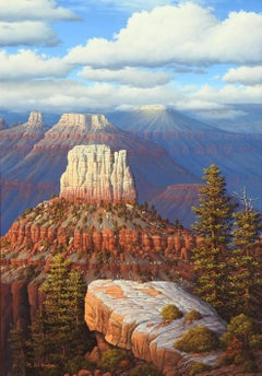 """""""Grand Canyon"""", R.W. Hedge, Original Oil on Canvas, 36x24. in, Realist Landscape"""