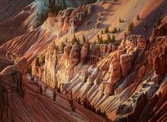 """Sunlight"", R.W. Hedge, Original Oil on Canvas, 30x40 in, Realist Landscape"