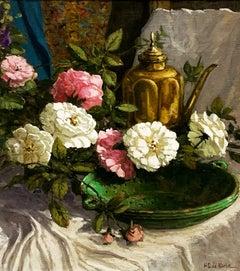 """Blooms in Morning Light"", Henni de Korte, 24x20, Oil on Canvas, Impressionism"
