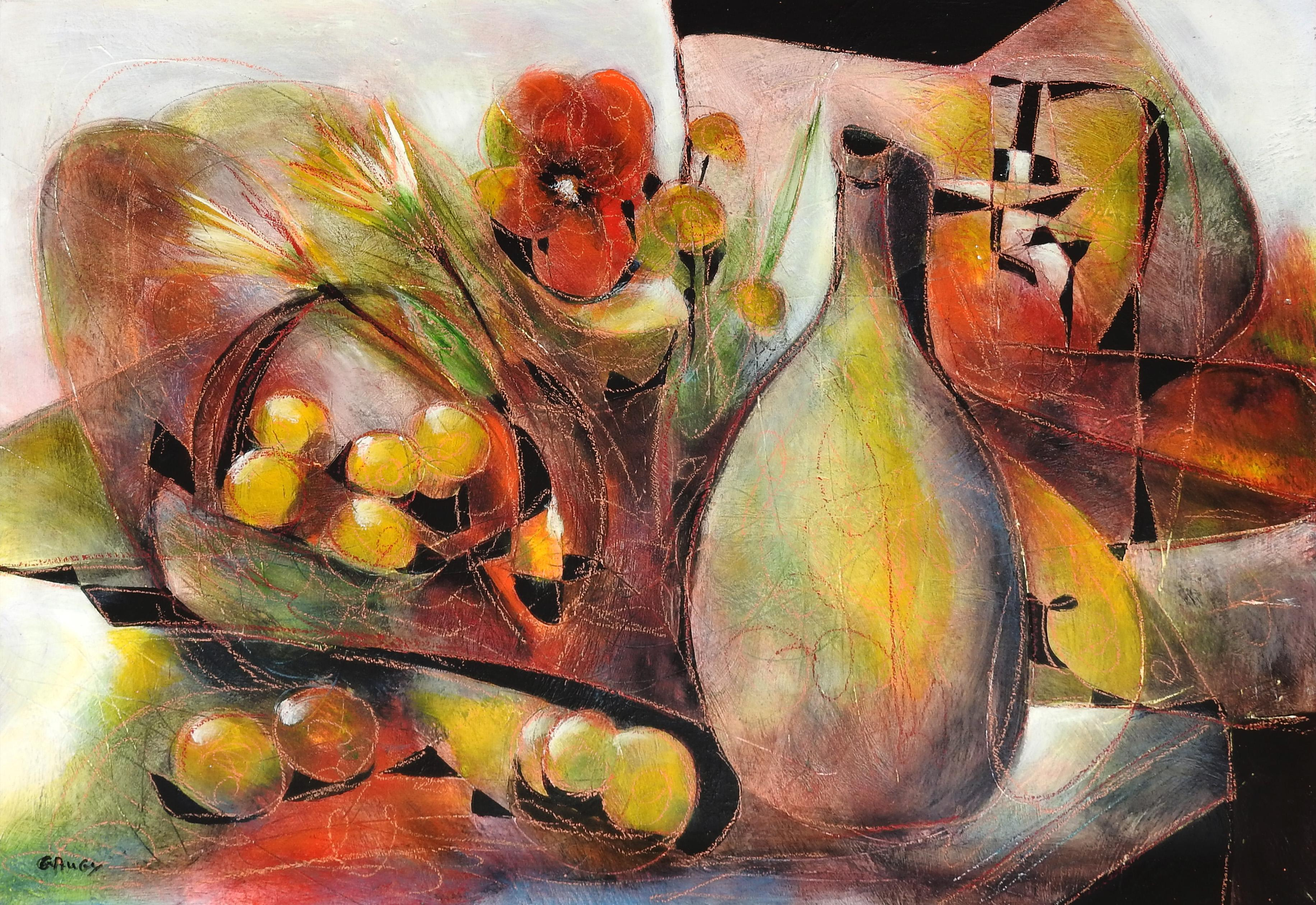 """L'Abondance"", Jean-Claude Gaugy, Oil on Board, French, Contemporary, Still Life"