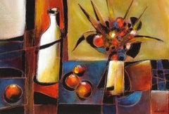 """""""Reflets"""", Jean-Claude Gaugy, Oil on Board, French, Contemporary, Still Life"""