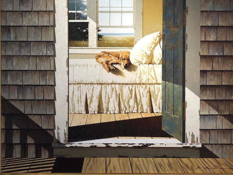 Zhen-Huan Lu Interior Painting - Sleeping Dog on Bed