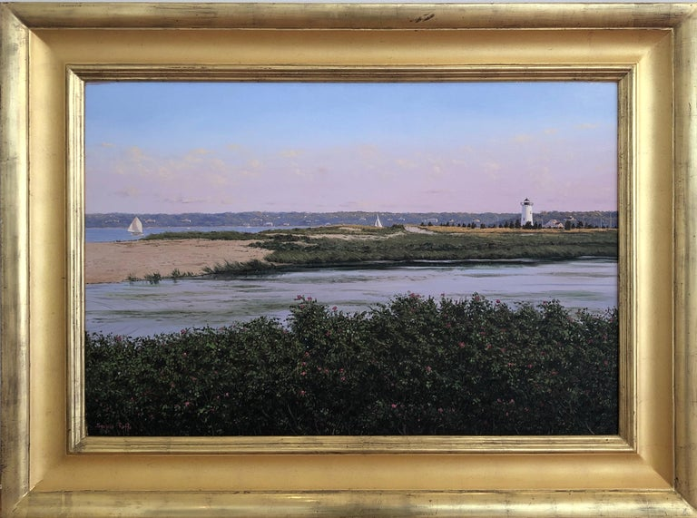 Sergio Roffo Landscape Painting - Martha's Vineyard Lighthouse