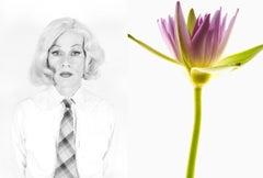 "Christopher Makos & Paul Solberg, ""Andy Dandy"" pop photo Andy Warhol & flower"