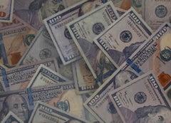 MICHAEL VIERA, $3,100, photo realist oil painting of money
