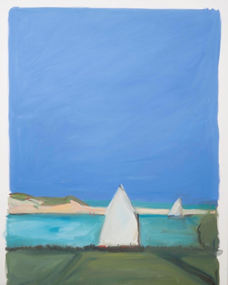 cornelia foss Landscape Painting - Two Sailboats