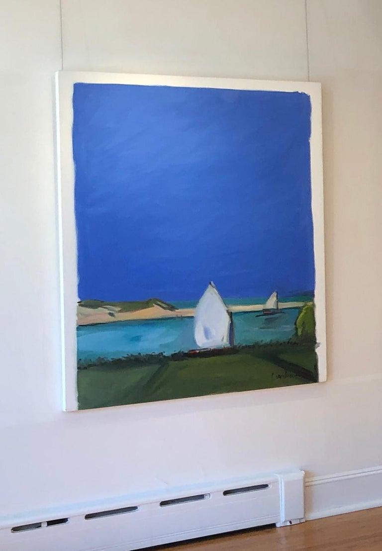 Two Sailboats - Painting by cornelia foss