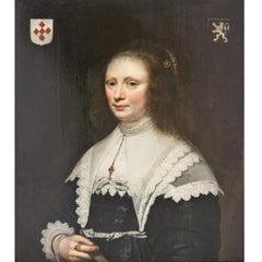Portrait of a Noblewoman, Jacob Gerritsz Cuyp, Oil on Wood, Figurative, 17th C.