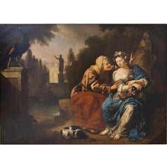 Vertumnus and Pomona by Hermannus Collenius (1650-1723), Oil Paint on Canvas