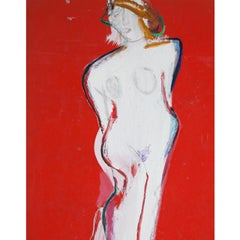 Josef Steiner (1899-1977), The White Lady, around 1960/70, Oilpaint on Cardboard