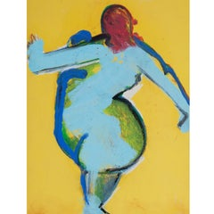 Josef Steiner (1899-1977), Abstract Female Nude, around 1960/70 Oil on Cardboard