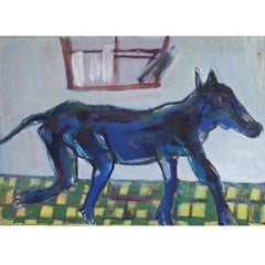 Josef Steiner (1899-1977) Blue Quadruped, Mid-20th Century, Oil Canvas, Abstract