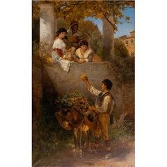 Joseph Fay (1812-1875) Advances to the Beautiful Sisters, Düsseldorf School 1872