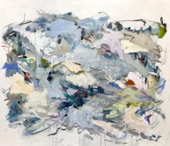 Walking Back, abstract expressionism, mixed media, large painting