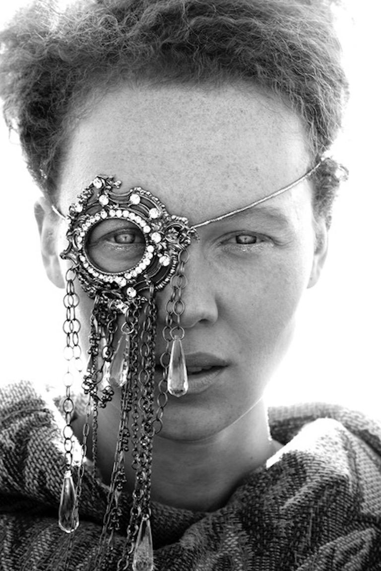 Monocle I - Black and White Fashion Photographic Portrait - Feminist Power