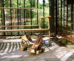 Roller Skates - Vintage roller skates with a bench in summertime - Karen Epstein