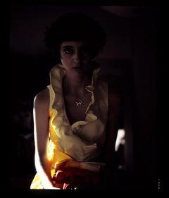 Telephone II - Shadow Female Figure with Telephone - Fashion Feminist Photograph