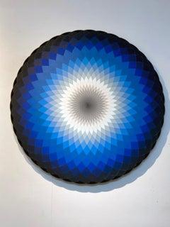 Chesum, blue and black geometric circle wall art