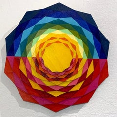 Mezzo, abstract geometric wall sculpture by Christine Romanell